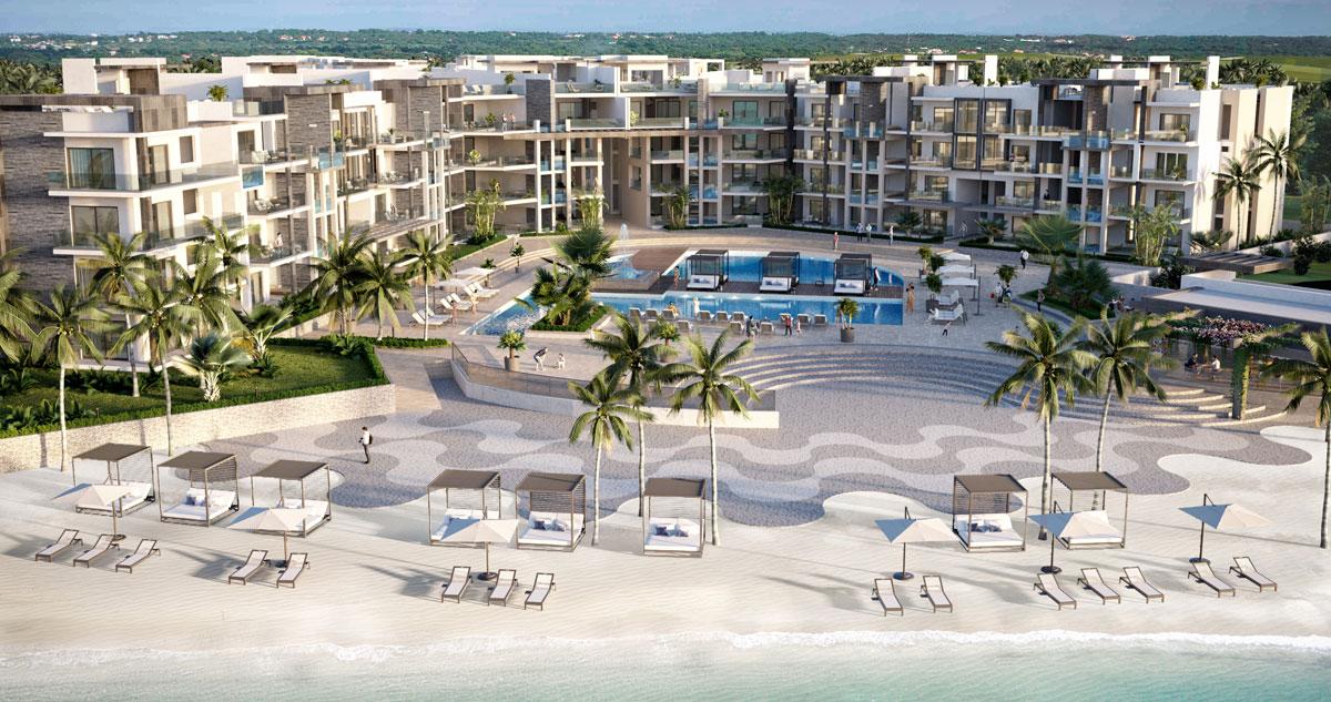 Brandneue Luxus-Wohnungen am Strand von Punta Cana